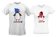 Парные футболки Пингвины