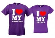 Футболки I love princess prince