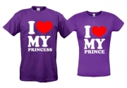 Футболки I love princess prince