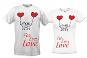 Комплект футболок для влюбленных For ever love