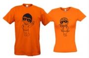 Парные футболки Love is..(хорошее настроение)