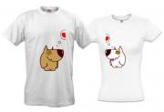 Парные футболки Dog-Love
