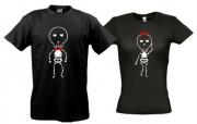 Парные футболки Скилеты