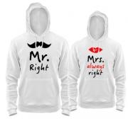 Комплект толстовок MR/MRS right