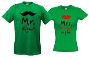 Парные футболки MR/MRS right