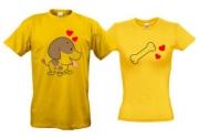Две футболки Цуцик и косточка