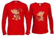 Парные кофты с обезьянками