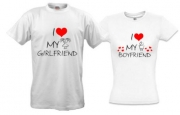 Футболки I love my boyfriend/girlfriend