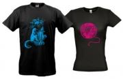 Парные футболки Кот и клубок