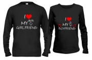 Парные лонгсливы I love my boyfriend/girlfriend