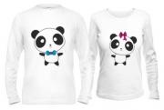 Кофты парные Панда любовь