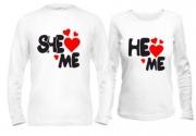 Комплект кофт She love me/He love me
