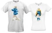 Парные футболки Смурфики