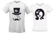 Парные футболки для влюбленных  Мr / mrs