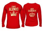 Парные лонгсливы The king-his queen